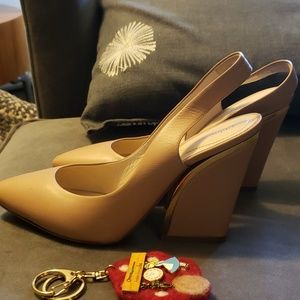 Chloe heels slingbacks shors 37.5 nude blush pink